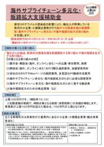 海外サプライチェーン多元化・販路拡大支援補助金のサムネイル