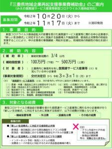 三重県地域企業再起支援事業費補助金のサムネイル